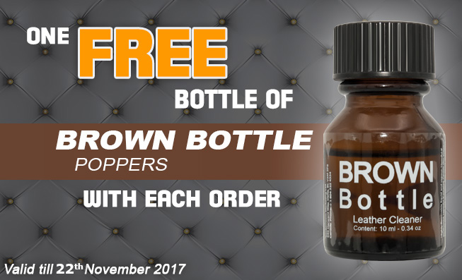 FREE Poppers Brown Bottle