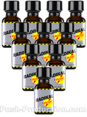 10 x RADIKAL RUSH big square bottle - PACK