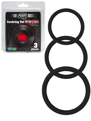 Cock Ring - Triple Silicone