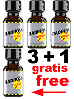 3 + 1 RADIKAL RUSH big square bottle