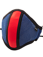 Barcode Berlin - Face Mask with Filter - Blue/red
