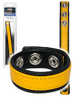 Cock Ring - Leather Strap Band Yellow